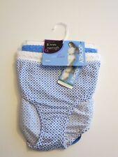 JOCKEY Sz 7 Brief Supersoft Elance Underwear Classic Fit Panties 3 pr Lace Blue