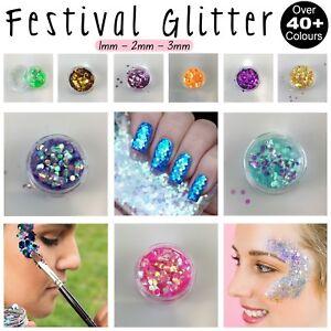 Festival Chunky Glitter Pot Face Paint Nail Art Eye Shadow Body Tattoo Cosmetic