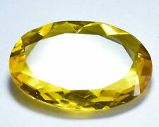 CS-0025 Citrine Glass Stone Gemstone Oval Faceted Cabochon 25x38mm 62Cts Cab