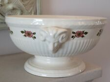 *RARE* WEDGWOOD BRIAR ROSE BOWL WITH RAMS HEAD CARTOUCHES - 8 INCHES DIAMETER