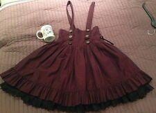 Infanta Gothic & Lolita Burgundy Suspender skirt Steampunk