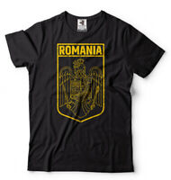Romania T-shirt Romanian heritage flag Tee shirt Coat of arms national day tee