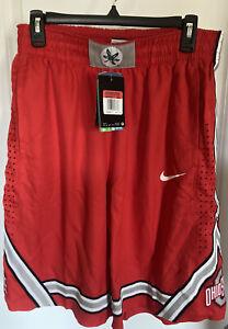 NEW Nike Ohio State Buckeyes Men's Large Red Basketball Shorts OSU Football