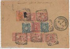54843 - REGNO: UMBERTO I - STORIA POSTALE : FRONTESPIZIO a TURKIA 1897 - 50 Cent