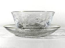 Saint LOUIS France Kristallglas ° signierte Schliffglas Schale + Unterteller