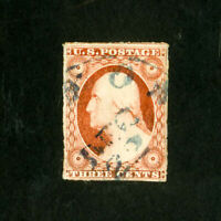 US Stamps # 10A F-VF Used w/ light crease Scott Value $140.00