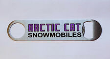 New Stainless Steel Bottle Opener with Vintage Arctic Cat Snowmobile Dealer Logo