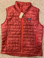 Brand New PATAGONIA Men's Nano Puff Vest - Oxide Red - LARGE (84242)