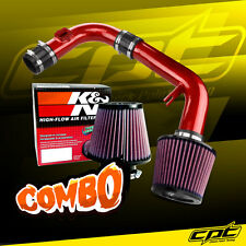 11-15 Chevy Cruze Non-Turbo 1.8L 4cyl Red Cold Air Intake + K&N Air Filter