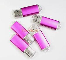 5 PCS 4 GB 4G USB 2.0 Flash Memory Pen Drives Thumb Stick Storage Metal Pink