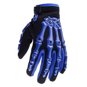 Youth Blue Motocross Gloves Kids Small Medium Large XL