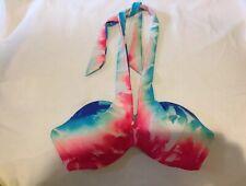 Victoria Secret Pink Bikini Push Up Top, Size SP Halter Top, Beautiful Print