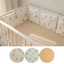 6Pcs Baby Crib Bumpers Cotton Infant Toddler Bedding Cot Protector Back Cushion