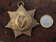 19th Century Irish medal with crownless Maid of Erin