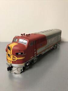 USA Trains G Scale R22357 Santa Fe F-3 Diesel A Unit #24 (PARTS OR REPAIR)