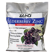 Zand Herbalozenge Elderberry Zinc - Sweet Elderberry 15 Lozenges