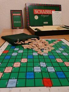 ‼Scrabble Holzsteine gut erhalten komplett Vollständig 1988 Jumbo Spear Spiele ‼