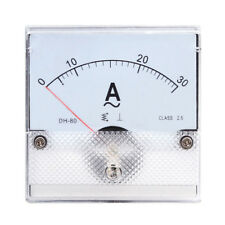 1PC Square Analog Panel AMP Current Meter AC 0-30A Ammeter Gauge DH-80 80*80