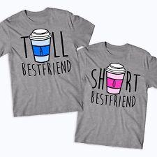 Tall Girl Short Girl Best Friends Matching T-Shirts Funny BFF Besties Girls-BF10