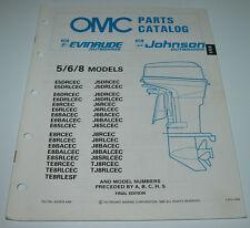OMC Parts Catalog Evinrude Johnson 5 / 6 / 8 Models Ersatzteilkatalog 04/1989!