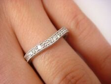 14K WHITE GOLD CURVED WITH MILGRAIN AND 0.25 CTTW DIAMOND WEDDING BAND 3.6 GRAMS