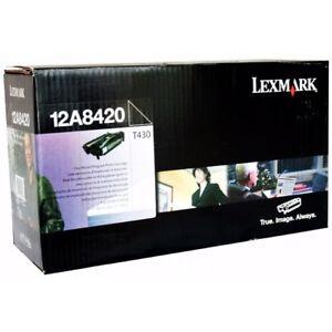 Original Lexmark Toner Noir 12A8420 T430 T430d T430dn ca.6000 Pages Emballage