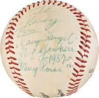 RARE 1957 Casey Stengel Single Signed Baseball PSA DNA LOA NY Yankees HOF auto