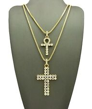 ANKH & CROSS PENDANT WITH BOX CHAIN SET