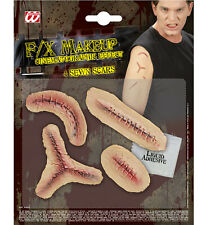 HALLOWEEN SFX 4 SEWN SCARS SFX for Trick Or Treat Cosmetics