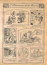 Humour Patrouille Poilus Montre Clochards Chien Höpital Soldat Radio WWI 1916