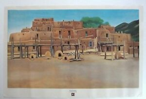 1975 G. O'Keeffe Taos Pueblo Off-Litho from Jack O'Grady Galleries Great Cond.!