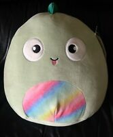 "NWT Squishmallows Target 12"" KENT Green Lizard Iguana Chameleon Rainbow Plush"