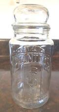Vintage Planters Peanuts 75th Anniversary Glass Jar # 17- 1981- Ex Condition