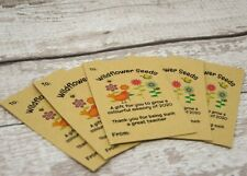 Teacher End of Term Gift Seed Packets Wildflower Seeds