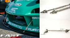 Adjustable Drift Diffuser Racing Bumper Spoiler Bars Stainless Steel SM