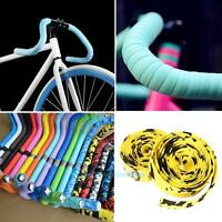 2X Cycling Road Bike Handlebar Tapes Grip Bar Rubber Foam Wrap + 2 Bar Plugs