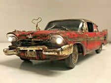 """New Listing1/18 """"Christine"""" Plymouth Fury Barn Find Diorama Hand Crafted Horror Film Car"""