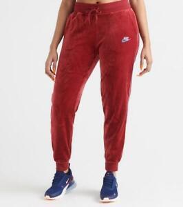 Nike Womens Sportswear Velour Heritage Sweatpants Jogger Pants Red BV5035-677 XL