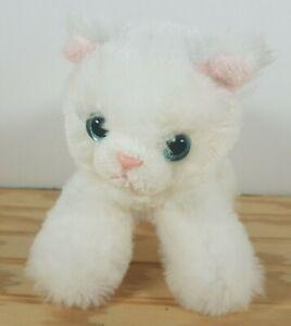 Aurora World White Kitty Cat Kitten Blue Eyes stuffed plush Small May 2017