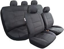 All Black Canvas Seat Covers Full Set MITSUBISHI TRITON ML MN DUAL CAB 2006-2018