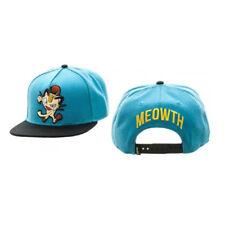 Authentic POKEMON Meowth Color Block Flat Bill Snapback Hat NEW