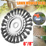 "6/8"" Steel Wire Wheel Brush Grass Trimmer Head Weed Cleaning Tools For Garden"