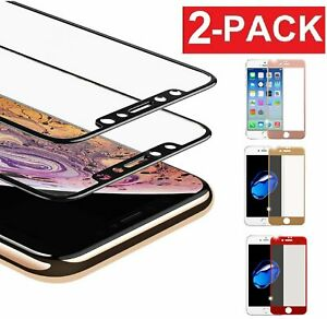 For Apple iPhone X/8/7 Plus XS 3D Full Coverage Tempered Glass Screen Protector
