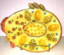 ITALICA ARS ITALY Chicken Deviled Egg Holder POTTERY Vintage