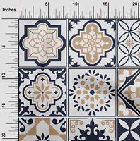 oneOone Flex Algodón Tela florales y azulejos Marroquí Tela De Costura-RbX