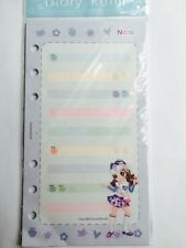 """Pink Hana Planner Memo Refill Pages, RARE, Style B, 3.75x6.75"""", Fits LV MM, A6"""