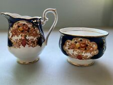 ROYAL ALBERT HEIRLOOM Bone China from England Creamer & Sugar Bowl Pattern 4534
