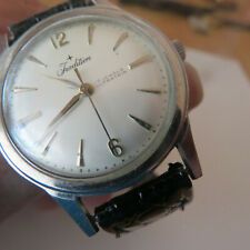 WRIST WATCH VINTAGE TRADITION  WATER PROOF STAINLESS  17 JEWELS RUNNING