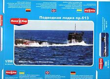 1/350 Submarine Projekt 613 Whiskey III - Mikromir- NEW!