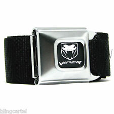 Dodge Viper Logo Official Licensed Seatbelt Authentic New Seat Belt Buckle Down